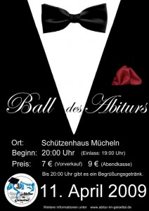 Plakat Ball des Abiturs 2009